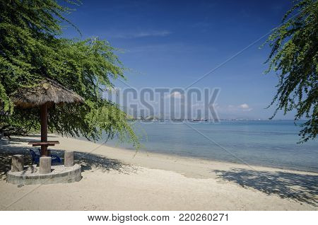 areia branca tropical beach view and coast near dili in east timor