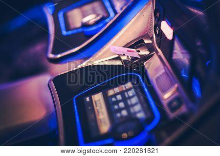 Gaming Voucher in Slot Machine. Casino Gambling Photo Concept. Las Vegas, Nevada.