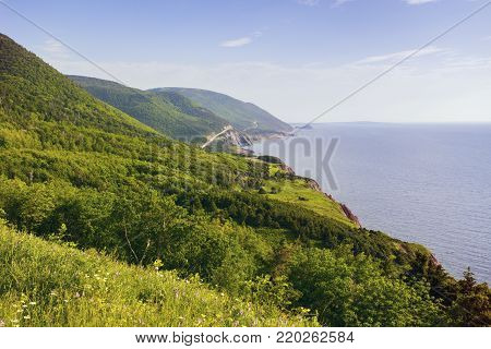 Cape Breton Highlands National Park in Nova Scotia. Nova Scotia, Canada.