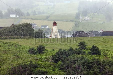 Margaree Harbour Range Front Lighthouse in Nova Scotia Nova Scotia, Canada.