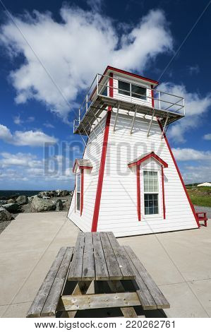 Arisaig Lighthouse in Nova Scotia. Nova Scotia, Canada.