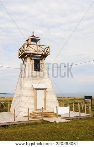 Wood Islands Range Rear Lighthouse on Prince Edward Island. Prince Edward Island, Canada.