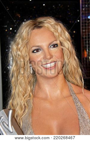 London, - United Kingdom, 08, July 2014. Madame Tussauds in London. Waxwork statue of Britney Spears.