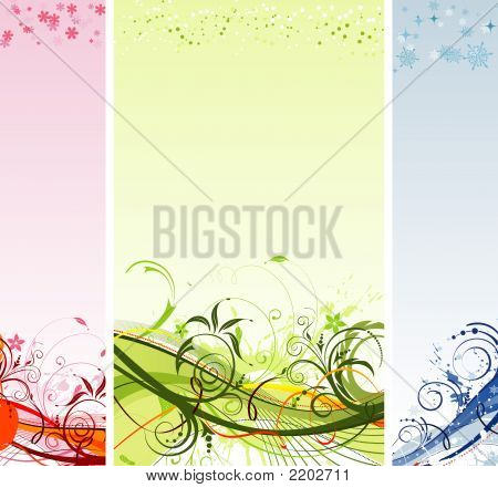 Grunge paint flower and Christmas background element for design illustration poster