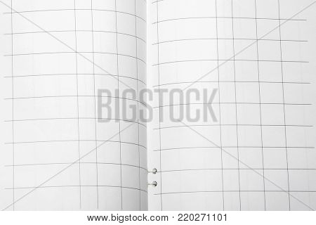 an account book under the white background
