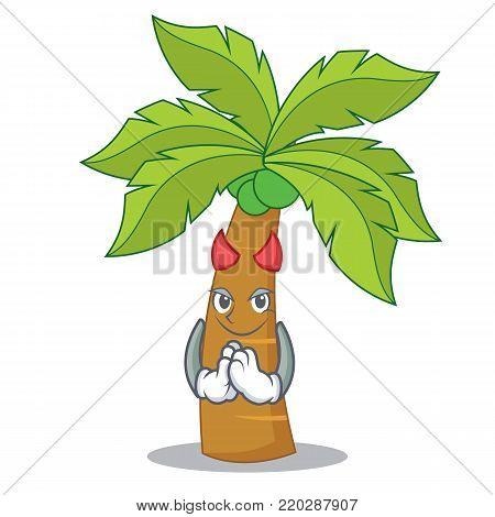 Devil palm tree character cartoon vector illustration