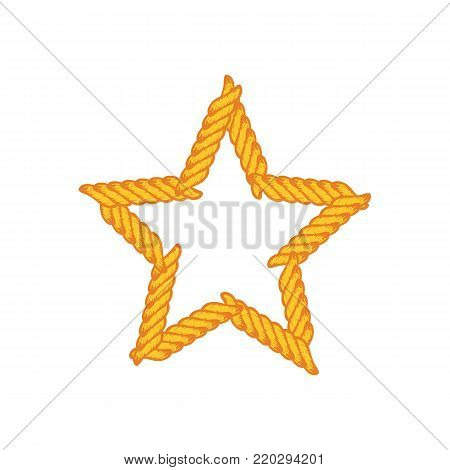 Star Lasso Rope Vector