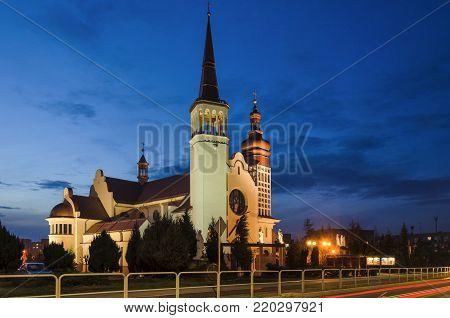 CITYSCAPE - Evening over the Roman Catholic church