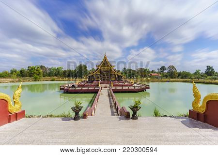 Pa Lahan Sai temple , Buriram Province , Thailand (  Foreign texts saying to commemorate the 2600 years of Buddha's Enlightment )