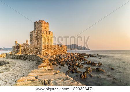 Methoni, Greece 9 August 2017. Methoni fortress in Greece, Peloponnese.