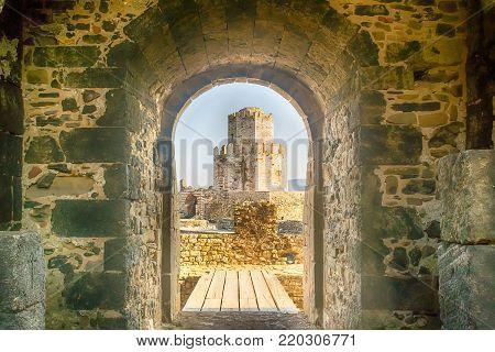 Methoni, Greece 9 August 2017. Beautiful view of Methoni castle.