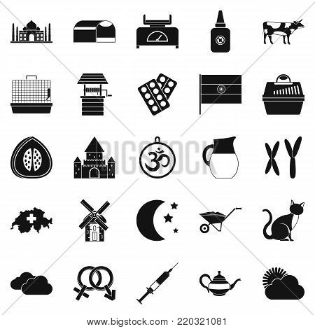 Arable farming icons set. Simple set of 25 arable farming vector icons for web isolated on white background