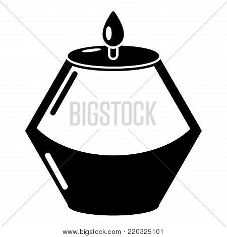Candle aromatic icon. Simple illustration of candle aromatic vector icon for web