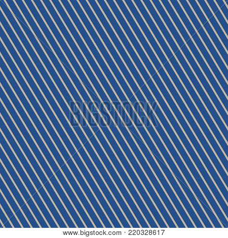 Seamless Pattern of Slanting Strips, Pattern for Fabric and Wrapping Paper, Gold Slanting Strips on Blue Background,  Illustration