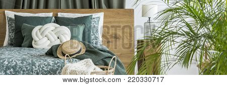 Bright Window With Olive Drapes