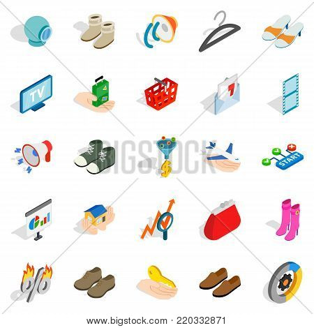 Target audience icons set. Isometric set of 25 target audience vector icons for web isolated on white background
