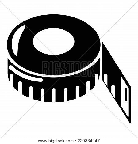 Tape measure icon. Simple illustration of tape measure vector icon for web.