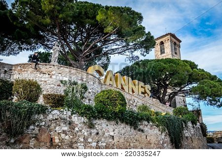 CANNES, FRANCE - DECEMBER 24, 2016: Cannes Castle Museum in Cannes, France.