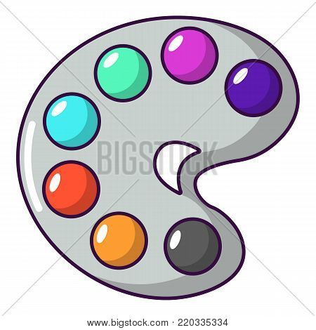 Palette icon. Cartoon illustration of palette vector icon for web