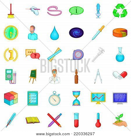 Lab icons set. Cartoon style of 36 lab vector icons for web isolated on white background