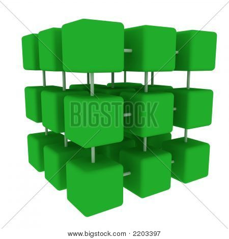 Green Connected Cubes  Side