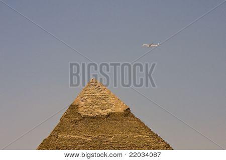The top of Pyramid of Khafre, Giza