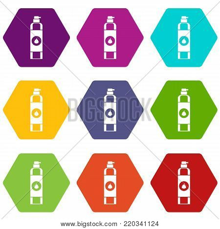 Air freshener icon set many color hexahedron isolated on white vector illustration