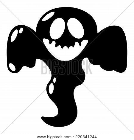 Ghost scaring icon. Simple illustration of ghost scaring vector icon for web