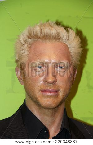 London, - United Kingdom, 08, July 2014. Madame Tussauds in London. Waxwork statue of Boris Becker.