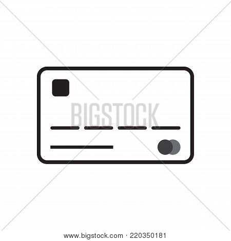 Credit card icon technology concept vector illustration line