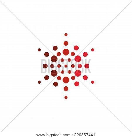 Abstract star halftone logo. New technology vector symbol
