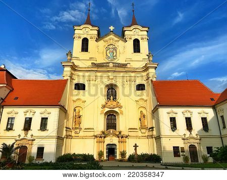 Benedictine monastery and abbey of Rajhrad. The museum of literature in Moravia. The oldest monastery in Moravia, Czech Republic.