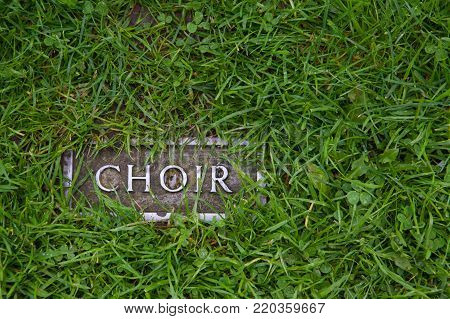 Choir - A Mark In Grass Indicating Where The Ruins Of The Choir Are Standing