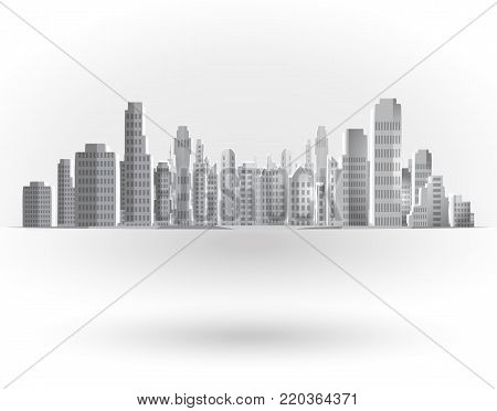 Urban background. City landscape, skyline vector illustration