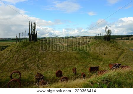 Part restoration of a former opencast mining site at Kelty