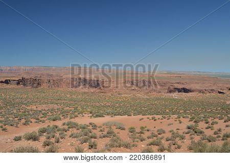 Desert Next Horse Shoe Bend. Utah, USA.