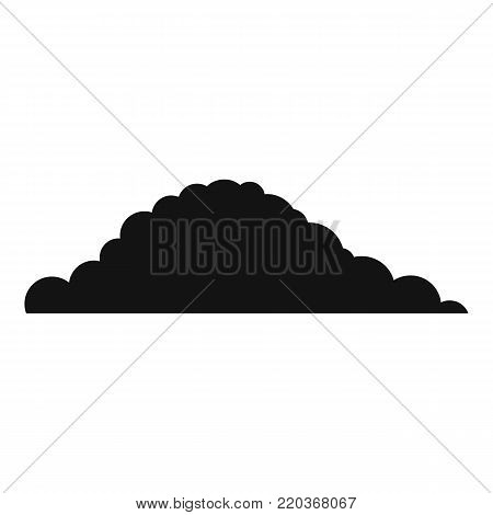 Cloudy icon. Simple illustration of cloudy vector icon for web