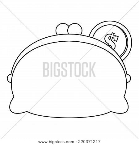 Woman wallet icon. Outline illustration of woman wallet vector icon for web