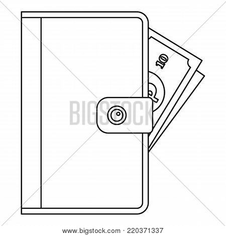 Purse icon. Outline illustration of purse vector icon for web