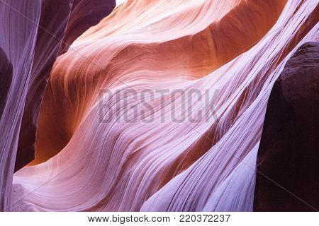 The beautiful swirling rocks of the slot canyon