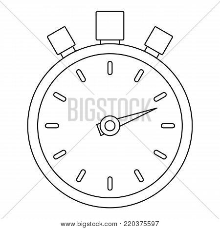 Stop stopwatch icon. Outline illustration of stop stopwatch vector icon for web