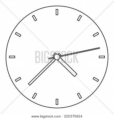 Fine clock icon. Outline illustration of fine clock vector icon for web