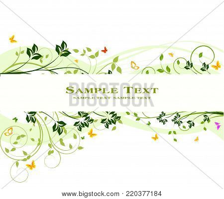 Floral Background with uniquely created floral elements