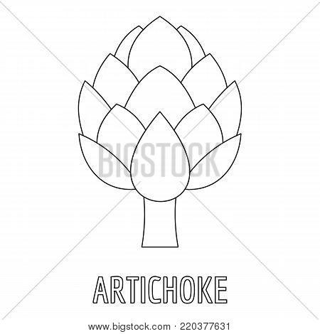 Artichoke icon. Outline illustration of artichoke vector icon for web