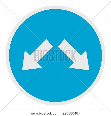 Moving in arrow icon. Flat illustration of moving in arrow vector icon for web.