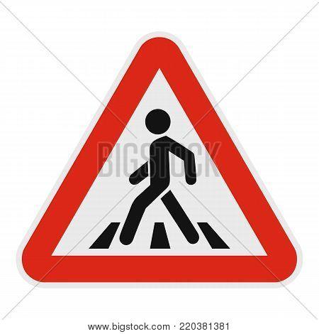 Crosswalk icon. Flat illustration of crosswalk vector icon for web.