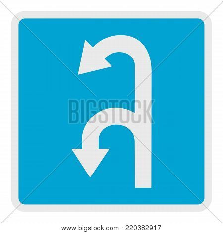 Left turn arrow icon. Flat illustration of left turn arrow vector icon for web.