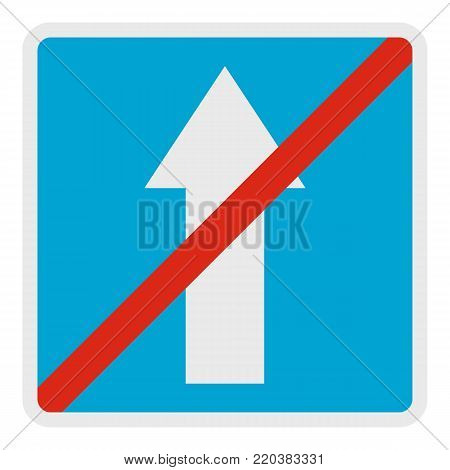 End of road icon. Flat illustration of end of road vector icon for web.