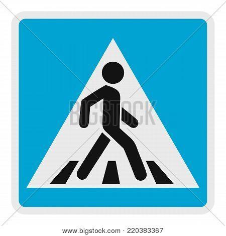 Pedestrian icon. Flat illustration of pedestrian vector icon for web.