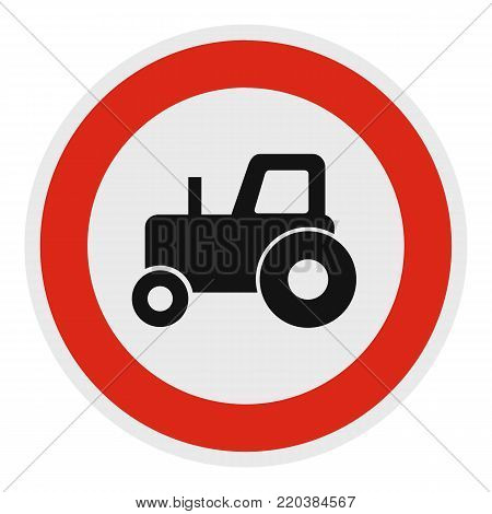No tractor icon. Flat illustration of no tractor vector icon for web.